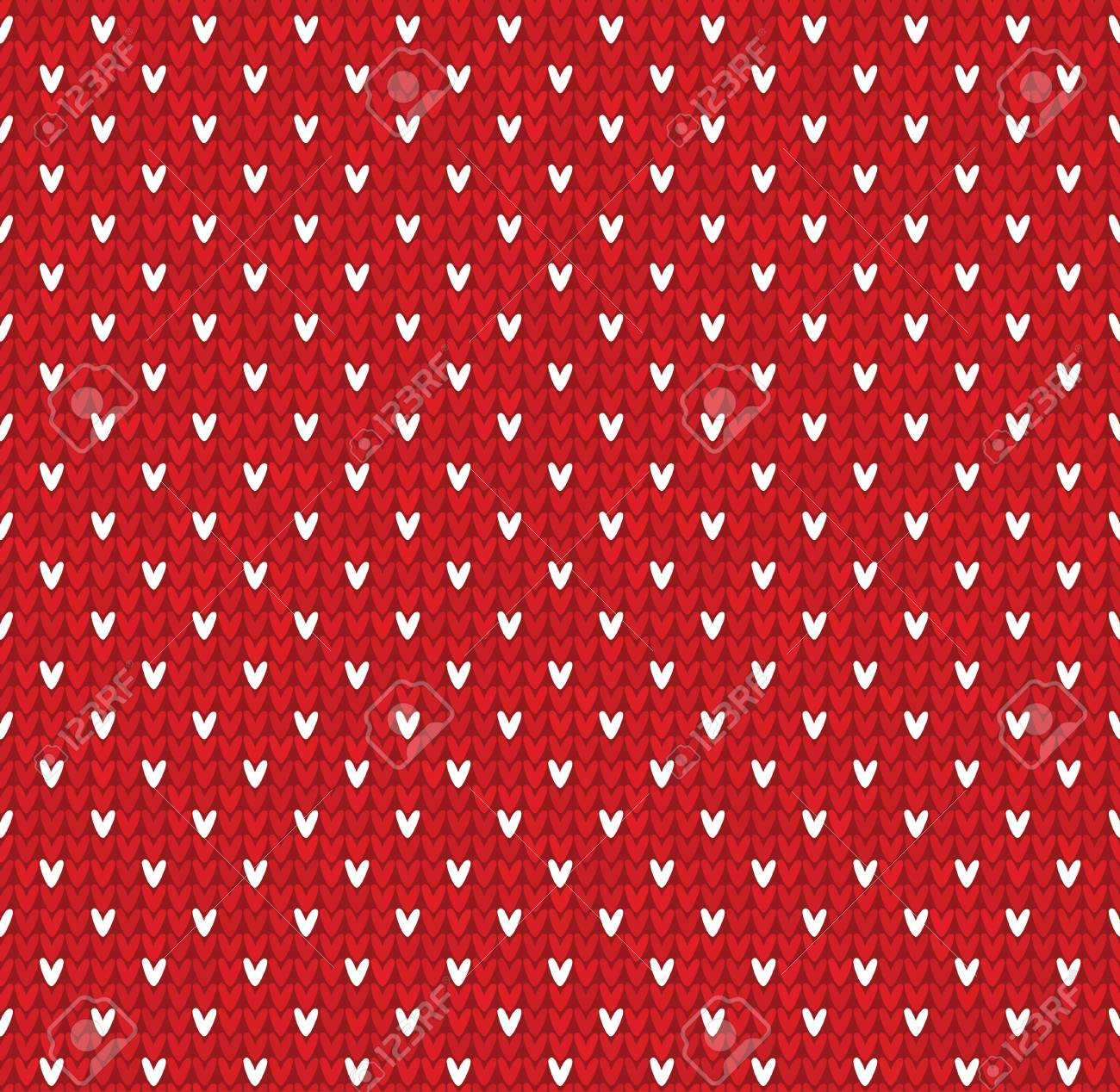 Knitted Pattern With Dots Snowflakes Royalty Free Cliparts, Vectors ...