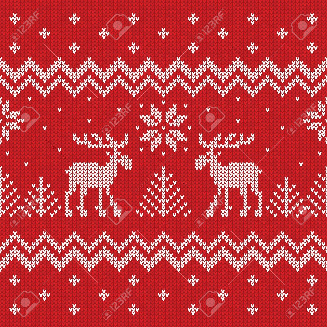 ugly sweater merry christmas and happy new year greeting card frame border template stock vector