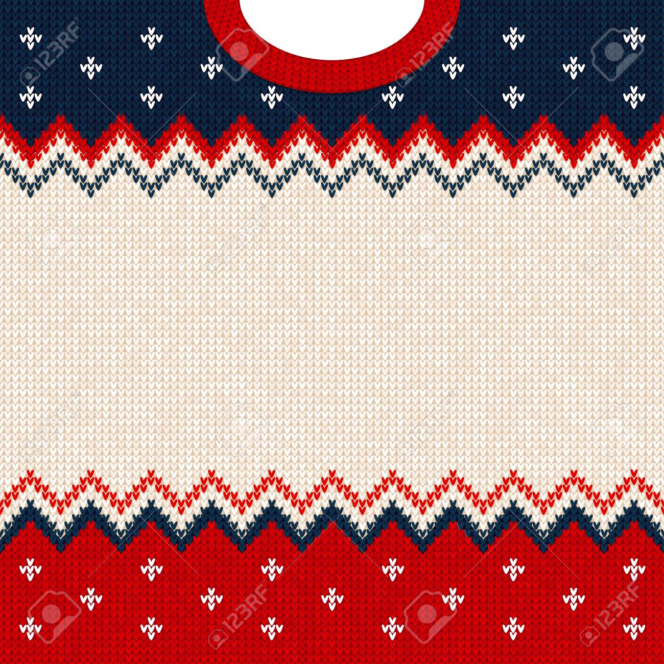 ugly sweater merry christmas and happy new year greeting card frame border template vector illustration