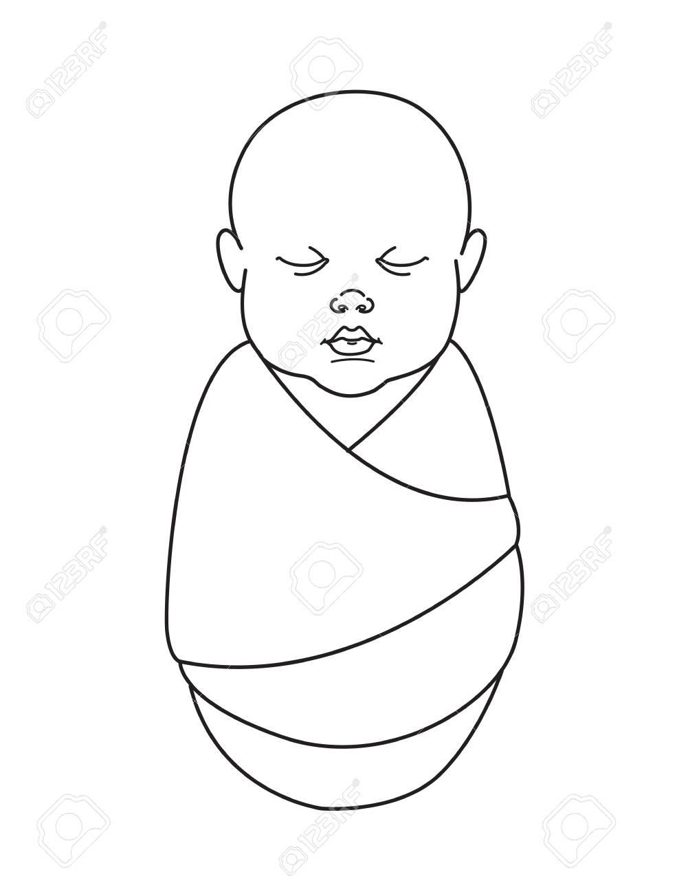 Vector Illustration Cute Baby Boy Or Girl Celebtation Party