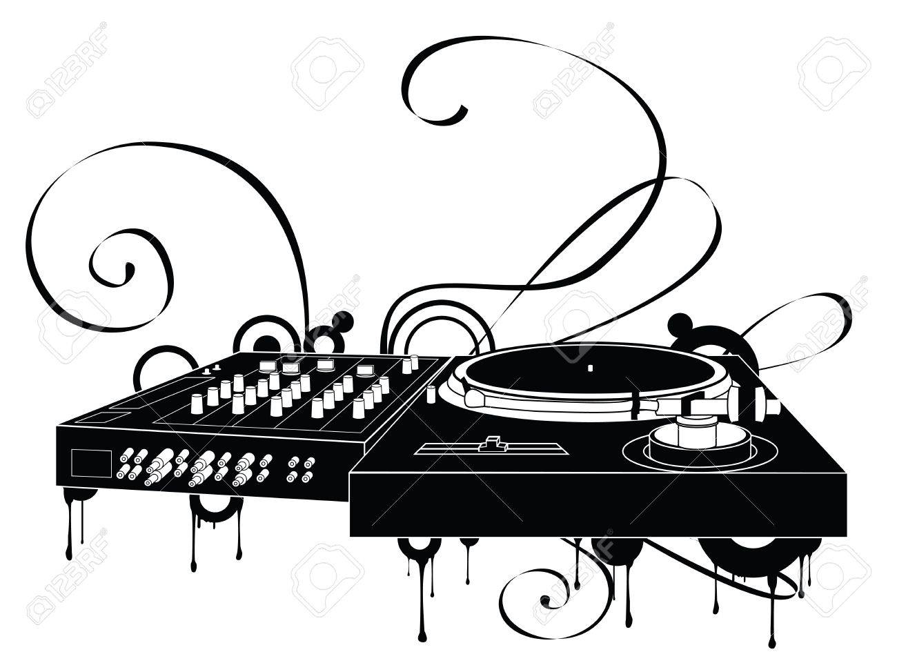 The Abstract Turntable Stock Vector - 1904409