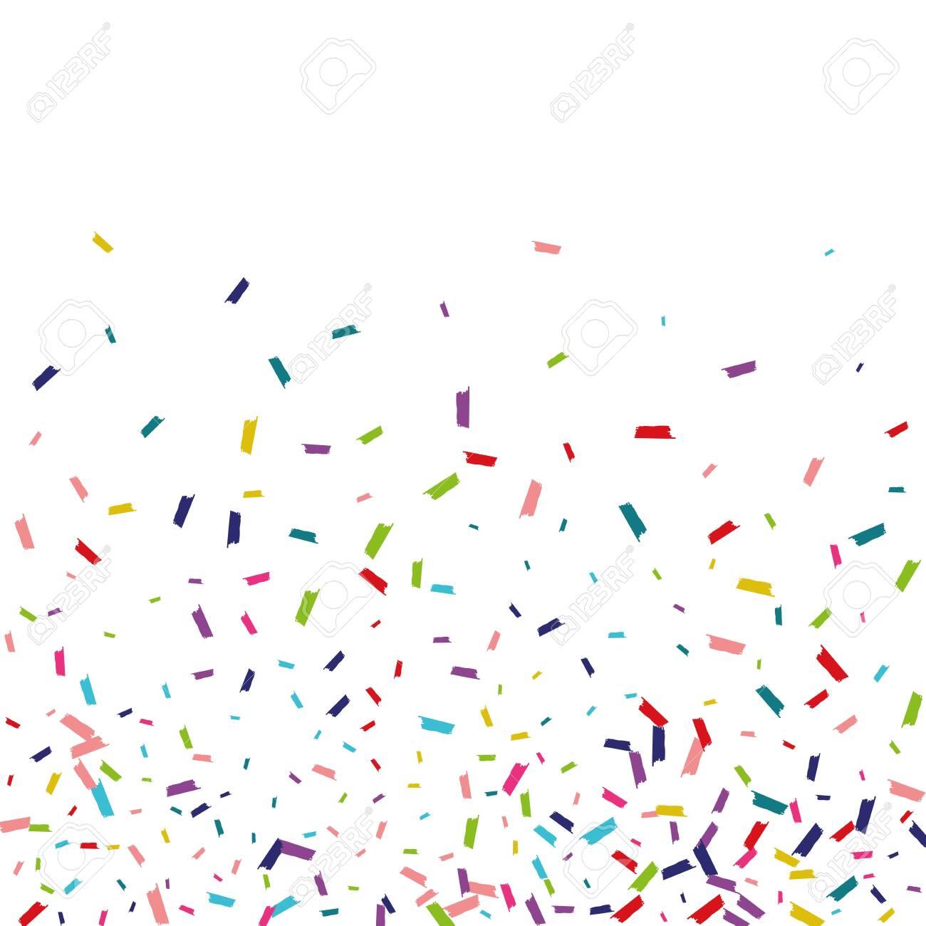 Rainbow Happy Round Wallpaper. Dust Banner. Splash Happy Invitation. Rainbow Happy Background. - 142894320