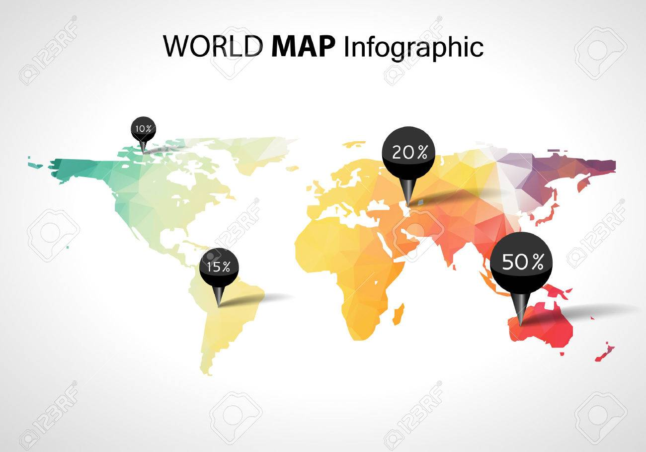 Abstract world map with tags points and destinations vector abstract world map with tags points and destinations vector stock vector 45600293 gumiabroncs Images