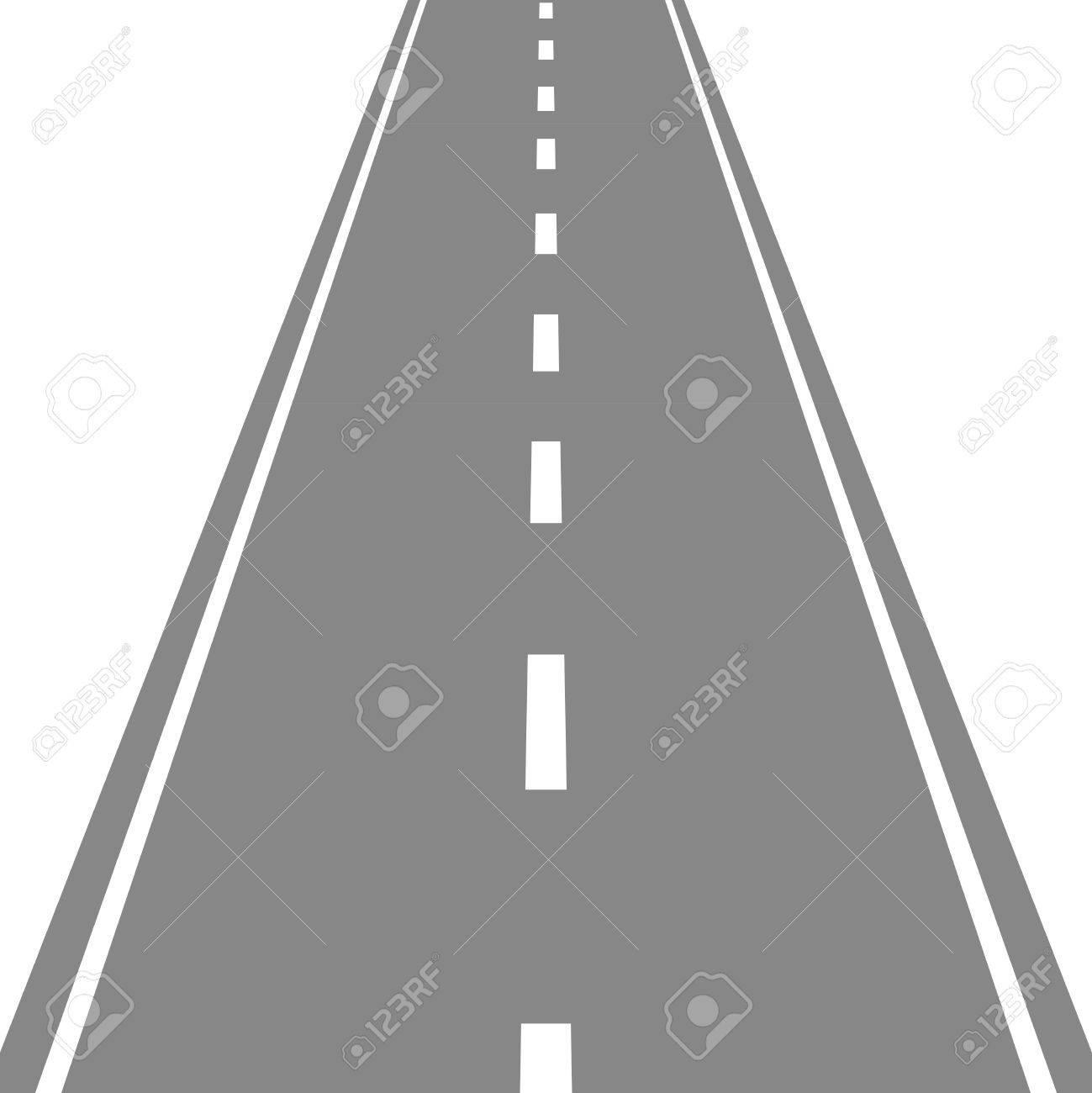 Straight Road Vector Illustartion Royalty Free Cliparts, Vectors ... for Straight Road Vector Free Download  587fsj