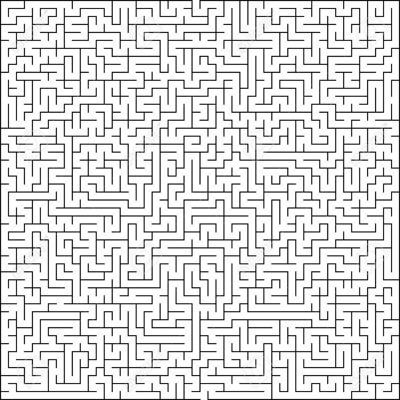 Abstract Vector Maze Of High Complexity Template Layout Royalty Free ...