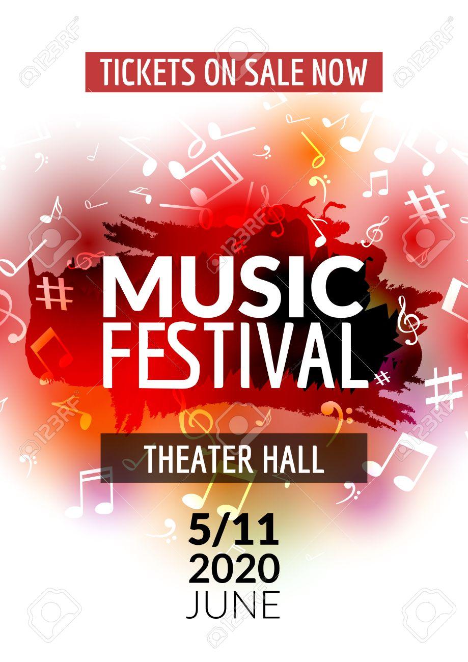 Affiche Concert colorful musique vecteur modèle de concert du festival dépliant