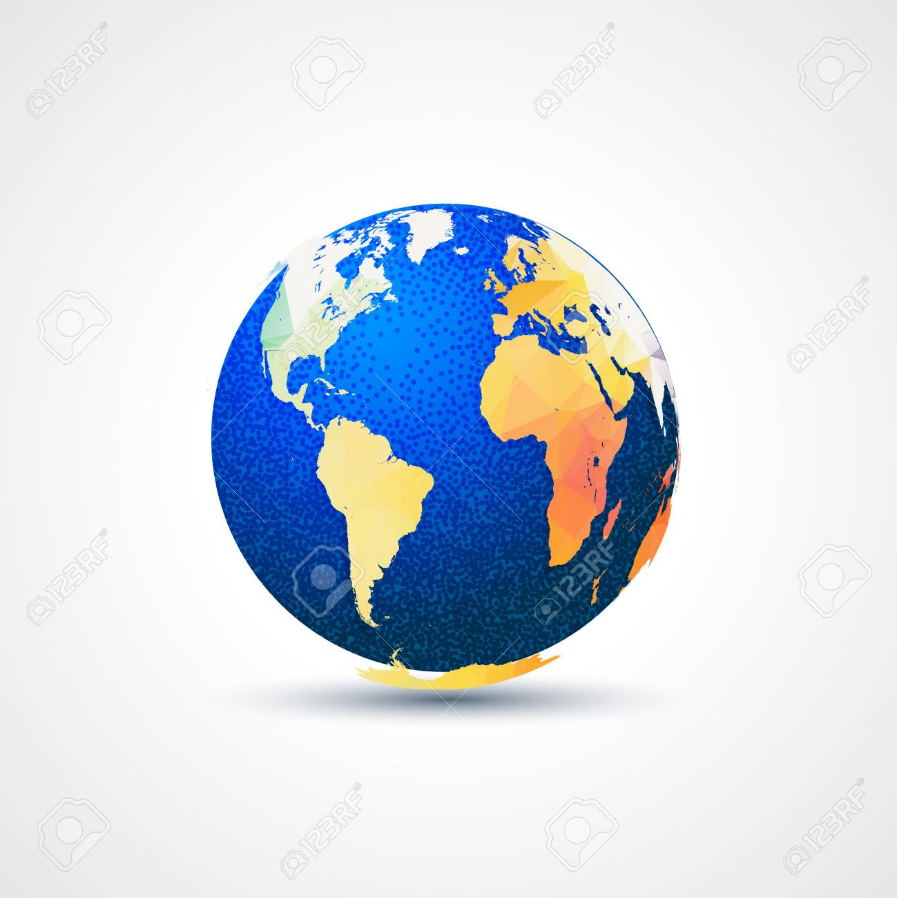 Trendy triangular world globe map amrica frica y europa foto de archivo trendy triangular world globe map amrica frica y europa concepto de comunicacin global gumiabroncs Image collections