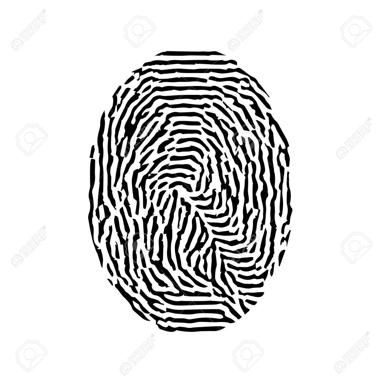 fingerprint vector black isolated fingerprint on white background rh 123rf com fingerprint vector line fingerprint vector art