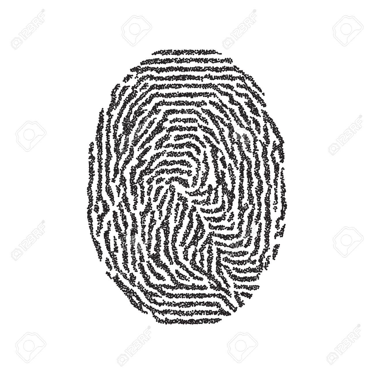 Cool Bild Fingerabdruck Das Beste Von Fingerabdruck. Vector Isoliert Schwarz Auf Weißem Hintergrund