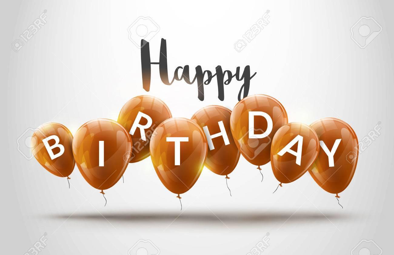 Happy Birthday Design Vector ~ Happy birthday balloons celebration. birthday party decoration