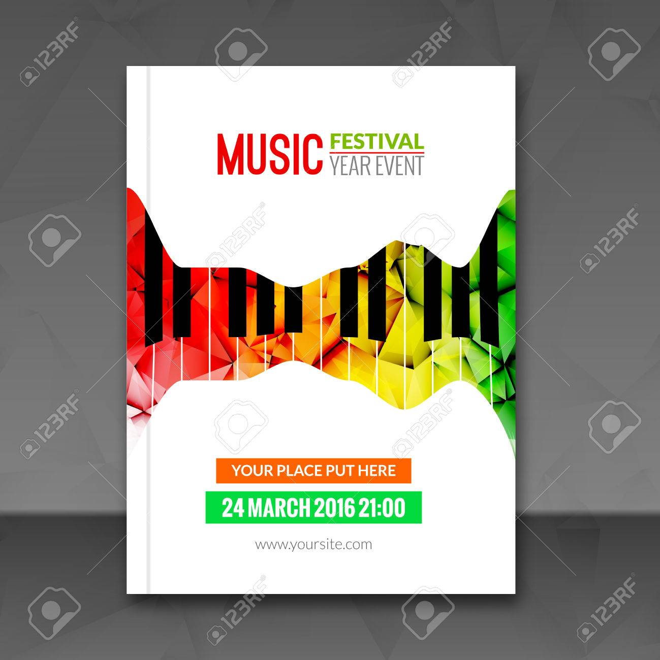 Music Festival Poster Background Flyer Template Jazz Piano – Music Flyer