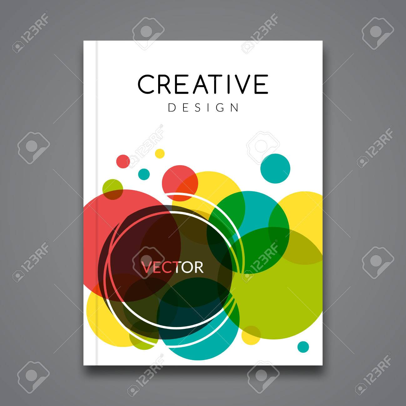 vector poster flyer template abstract colorful background for