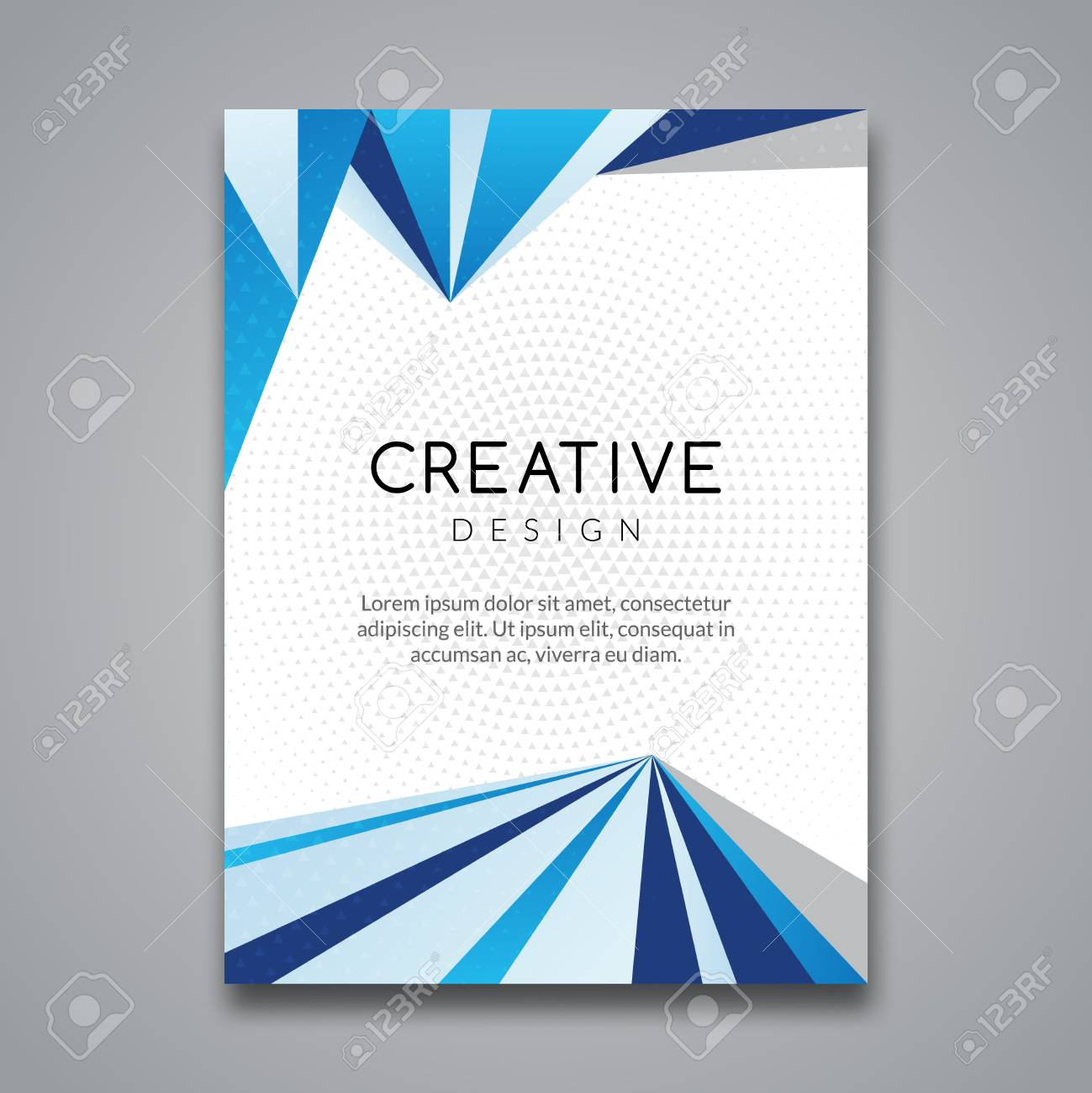 business report design flyer template background with colorful