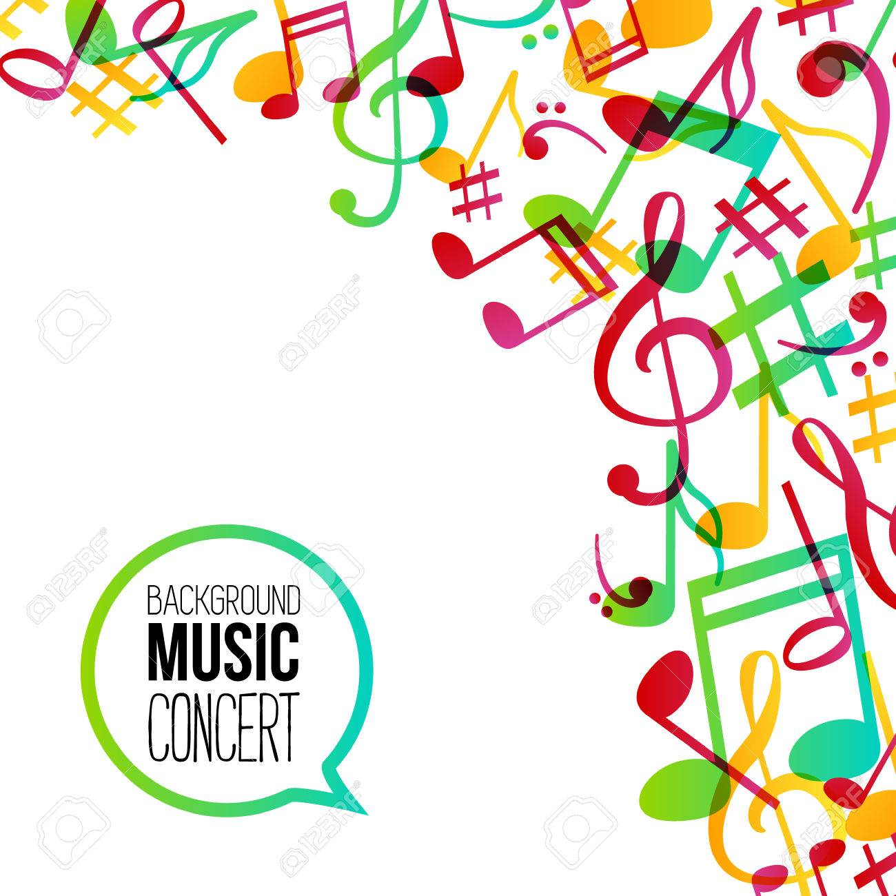 music background musical background with musical notes vector rh 123rf com Colorful Music Notes Background Music Notes with Transparent Background
