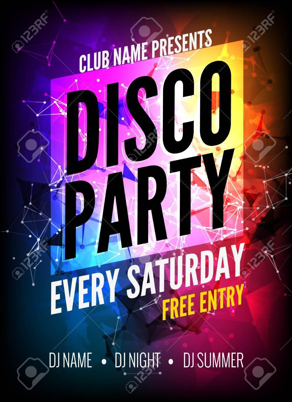 Disco Party Flyer Template Mersnoforum