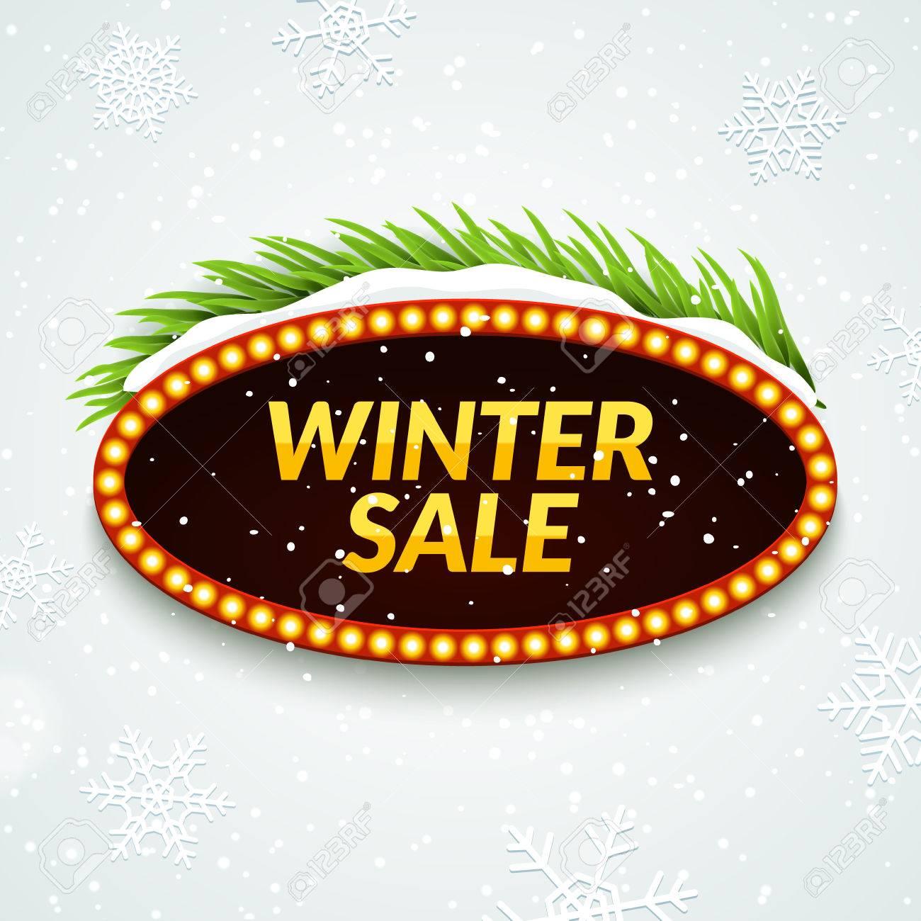 Großer Verkauf Winter Verkauf Zeichen Design-Vorlage ...