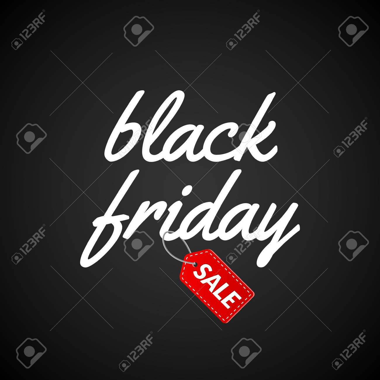 Black Friday Calligraphic Lettering Retro Poster Sign. Label ...
