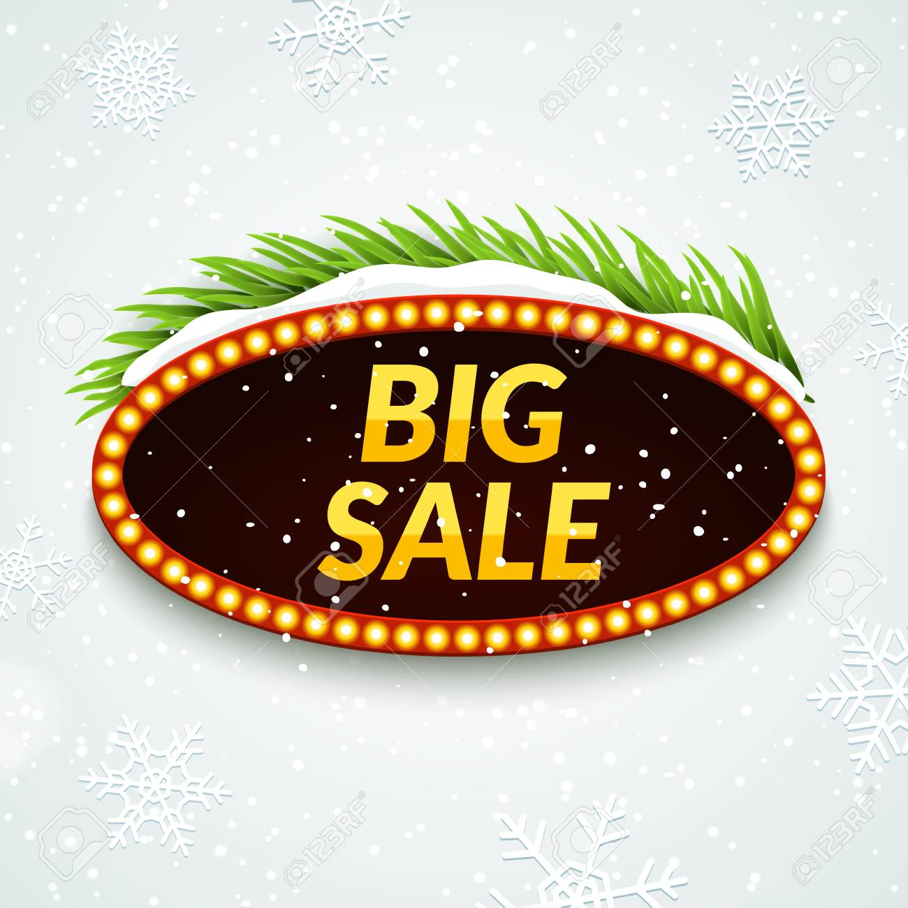 winter sale signs