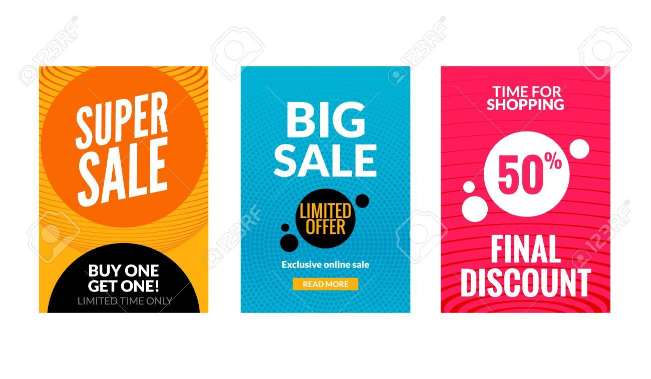 Verkauf Flyer Set Mit Rabatt Angebot Saison Beste Preis Poster