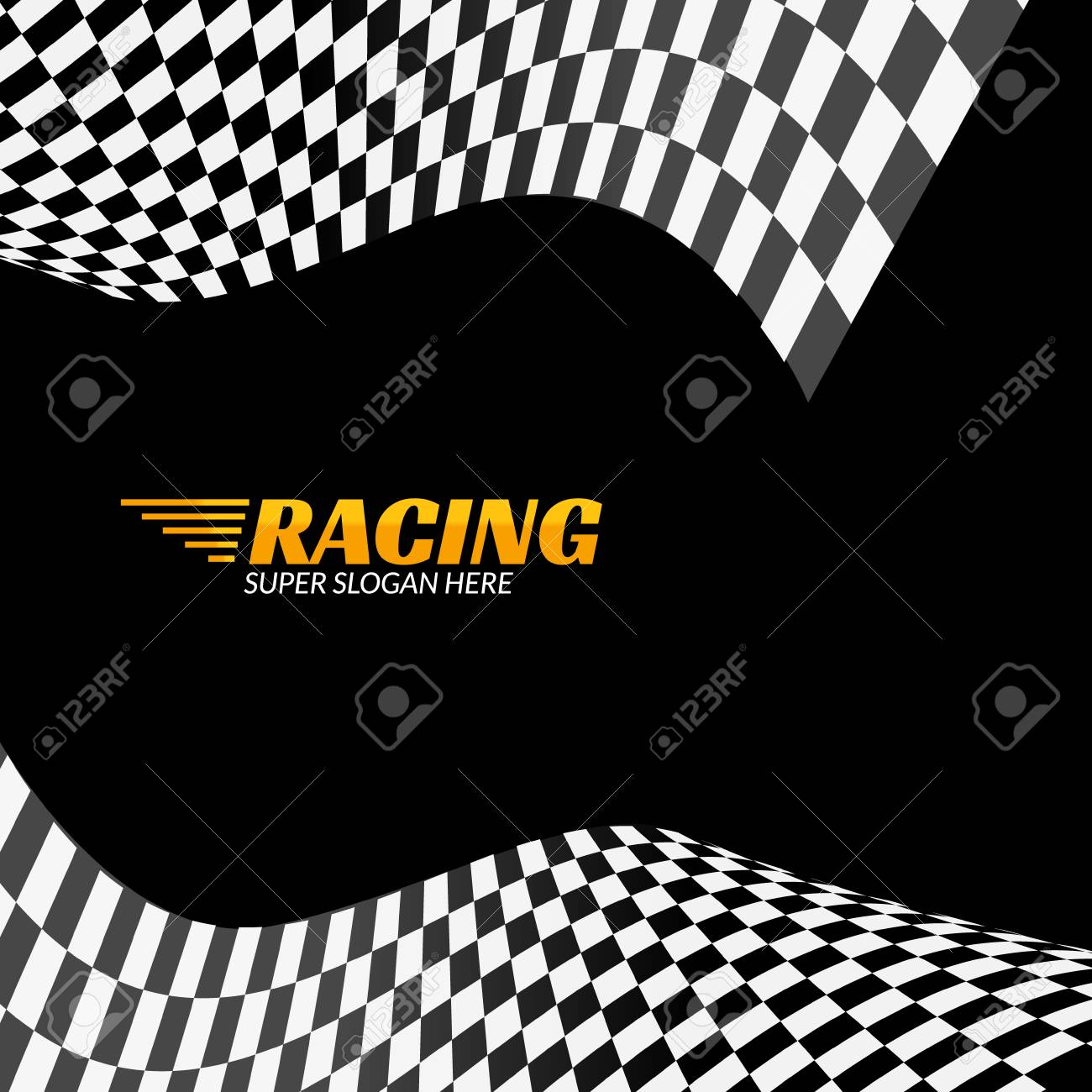 Racing Background With Race Flag Vector Sport Design Banner Royalty Free Cliparts Vectors And Stock Illustration Image 68591156