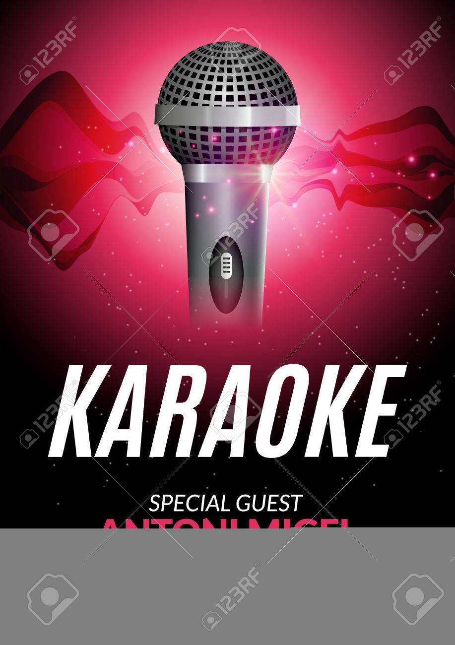 Karaoke party invitation poster design template karaoke night karaoke party invitation poster design template karaoke night flyer design music voice concert stopboris Choice Image