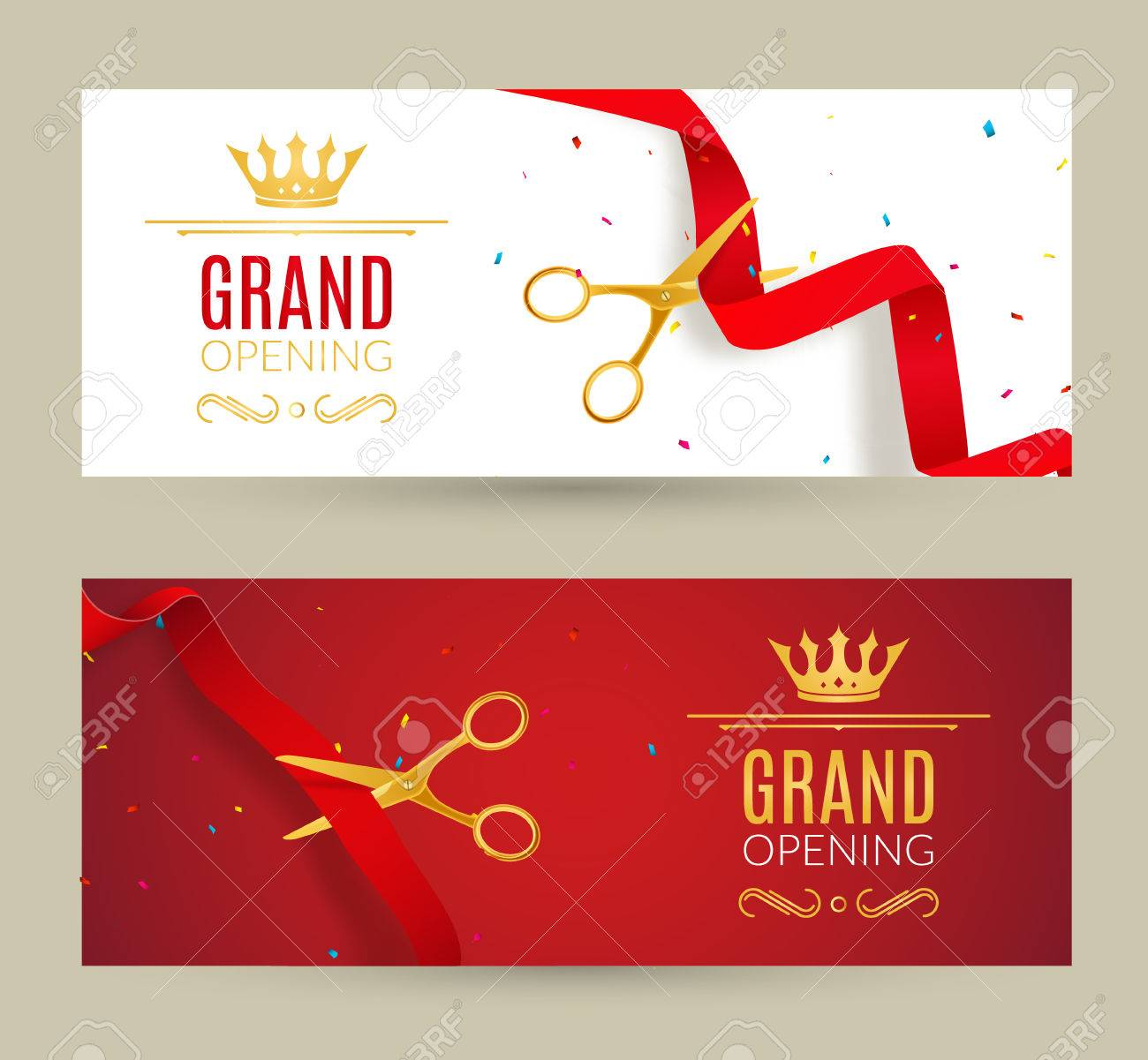 Grand opening invitation banner red ribbon cut ceremony event grand opening invitation banner red ribbon cut ceremony event grand opening celebration card stopboris Image collections