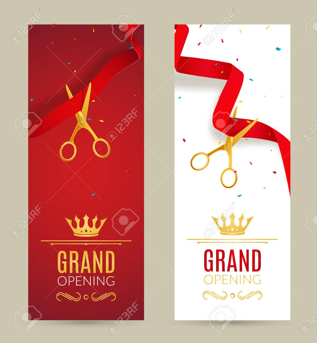 Grand opening invitation banner red ribbon cut ceremony event grand opening invitation banner red ribbon cut ceremony event grand opening celebration card stopboris Gallery