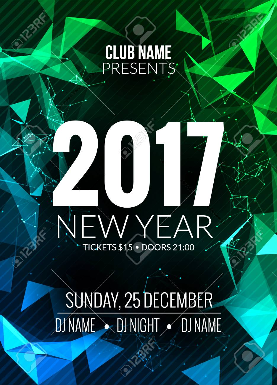 new year party design banner event celebration template new year festive poster invitation 2017