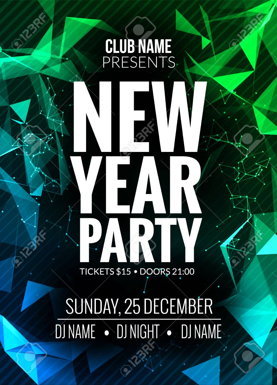 new year party design banner event celebration design template new year festive poster invitation