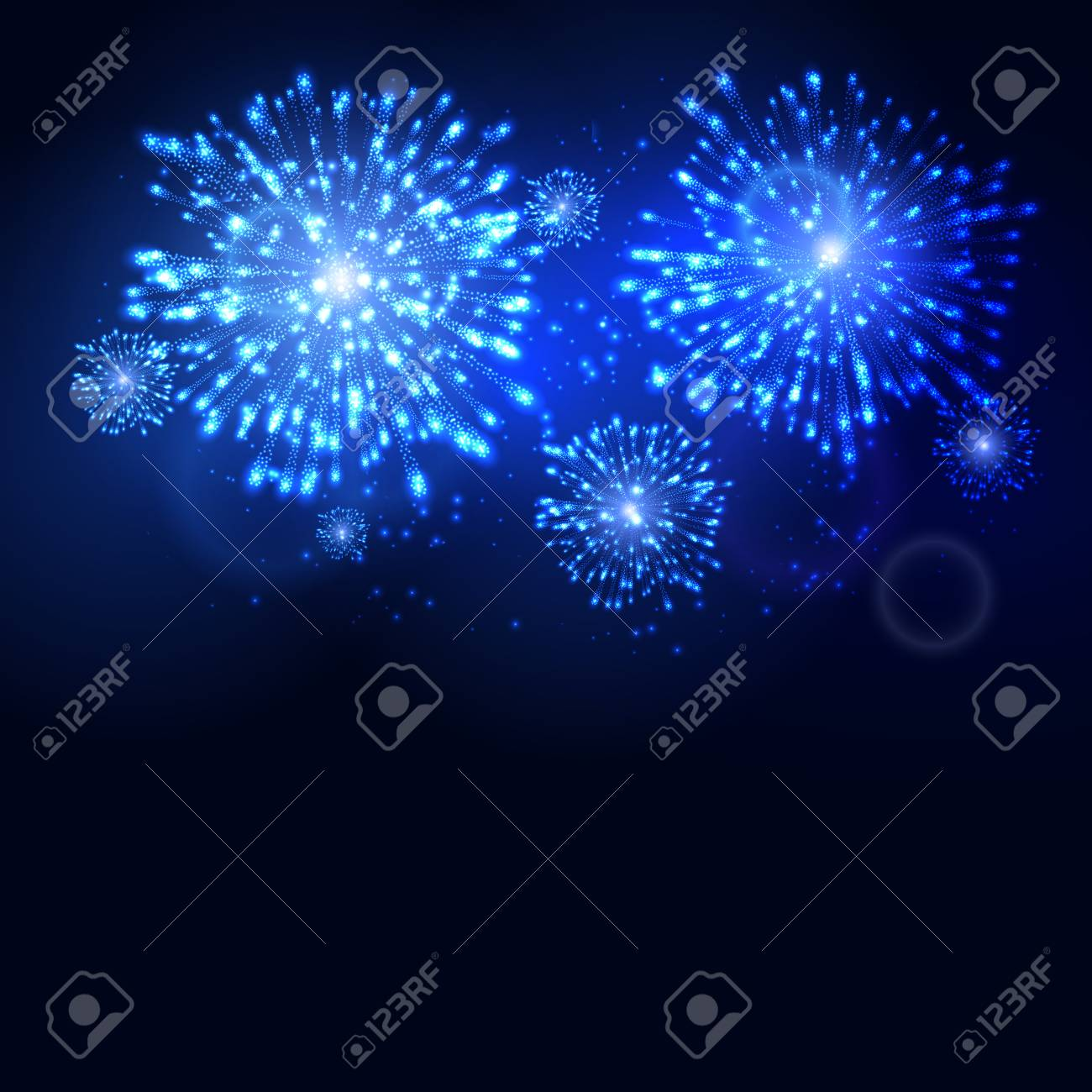 firework new year holiday celebration template vector firework flame carnival event background stock vector