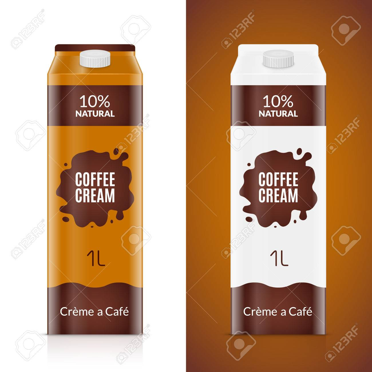 coffee cream packaging design template cream product package