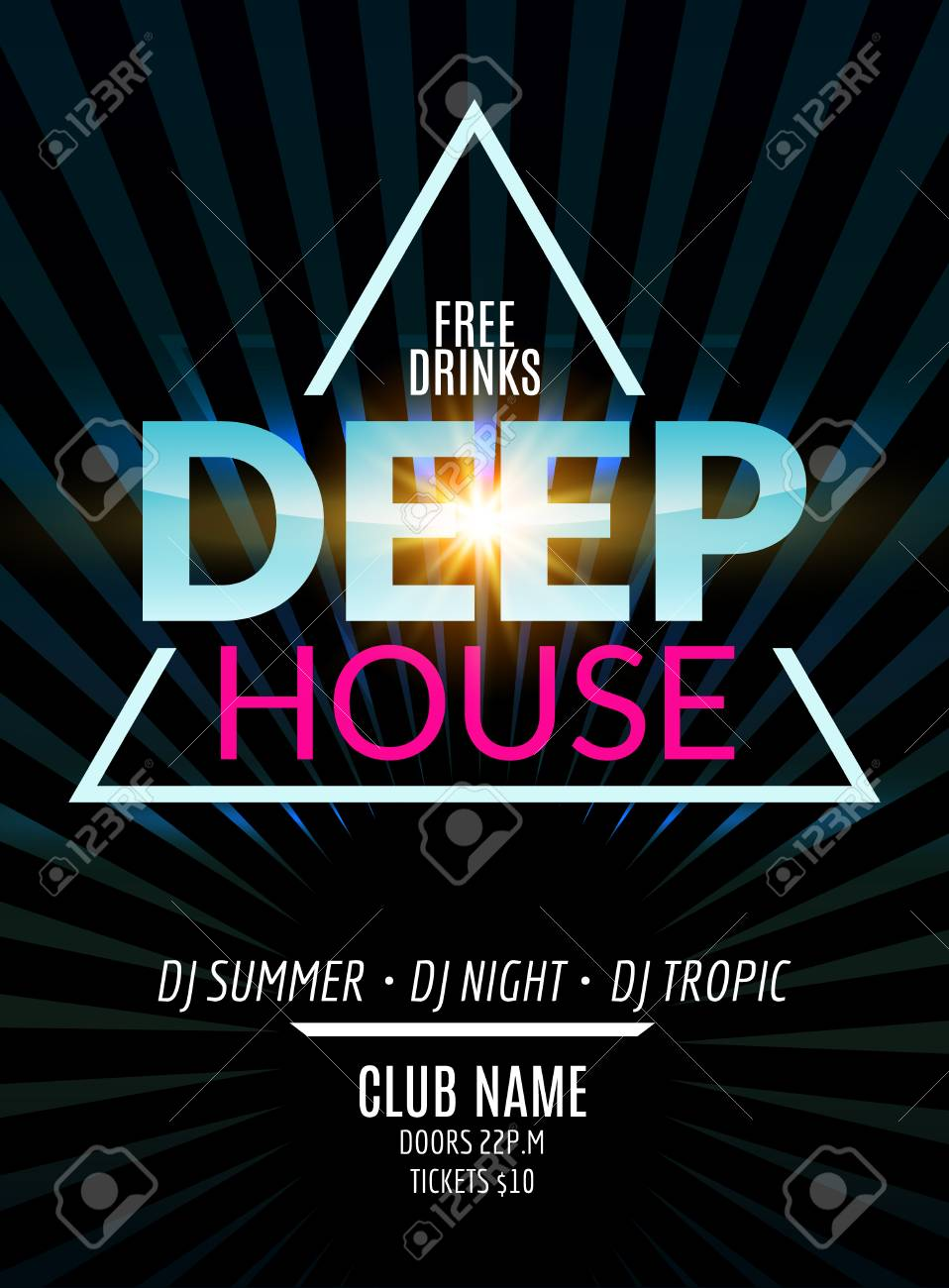 Disco Party Flyer Design Dance Banner For Music Club Disco Royalty Free Cliparts Vectors And Stock Illustration Image 71501661