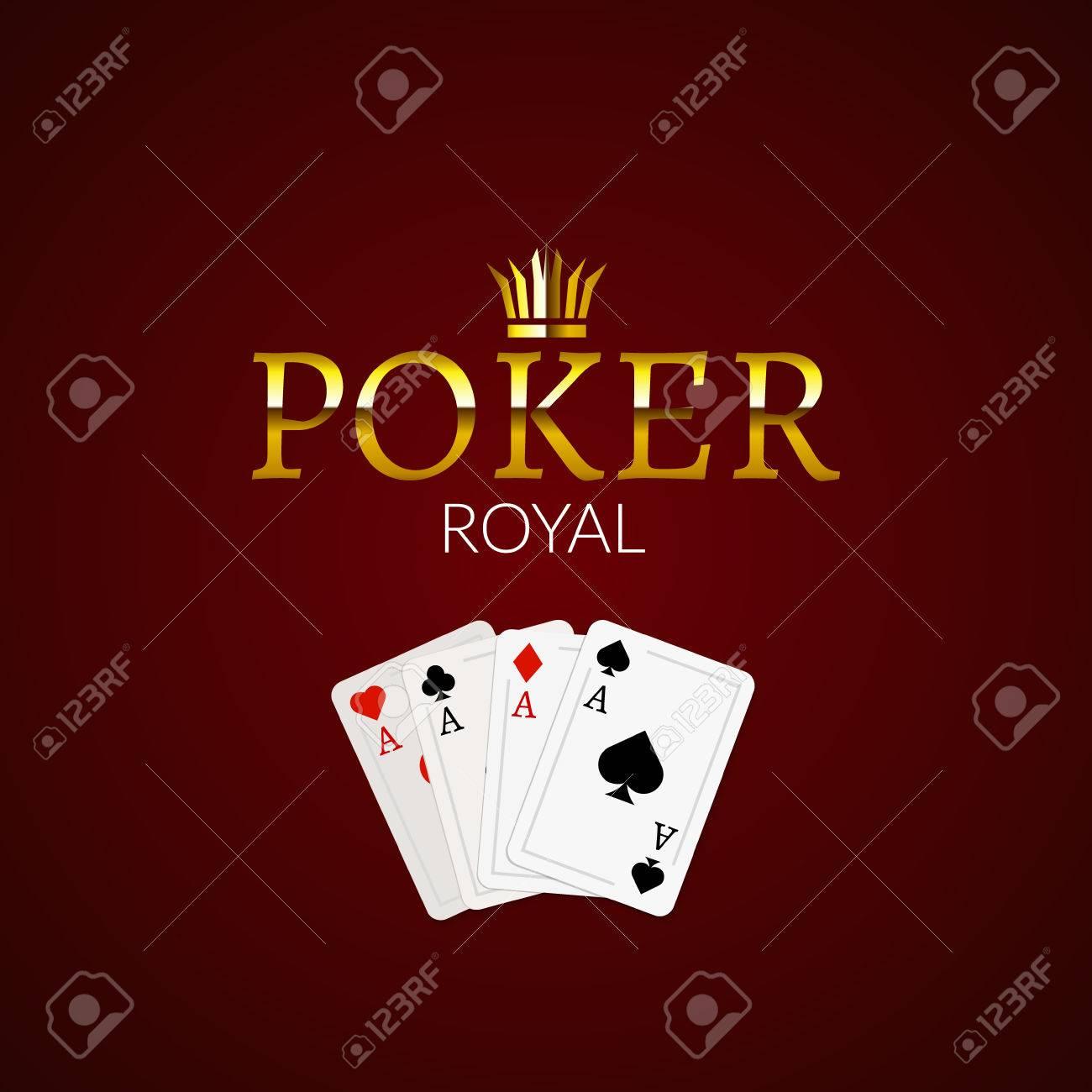 Casino logo template poker table top cardinal