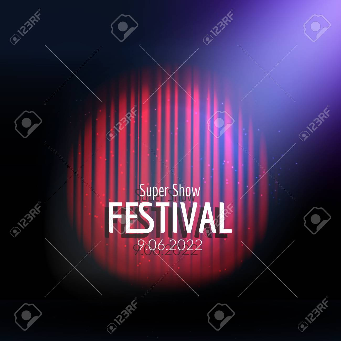 Vector Festive Design With Lights Poster For Concert Party