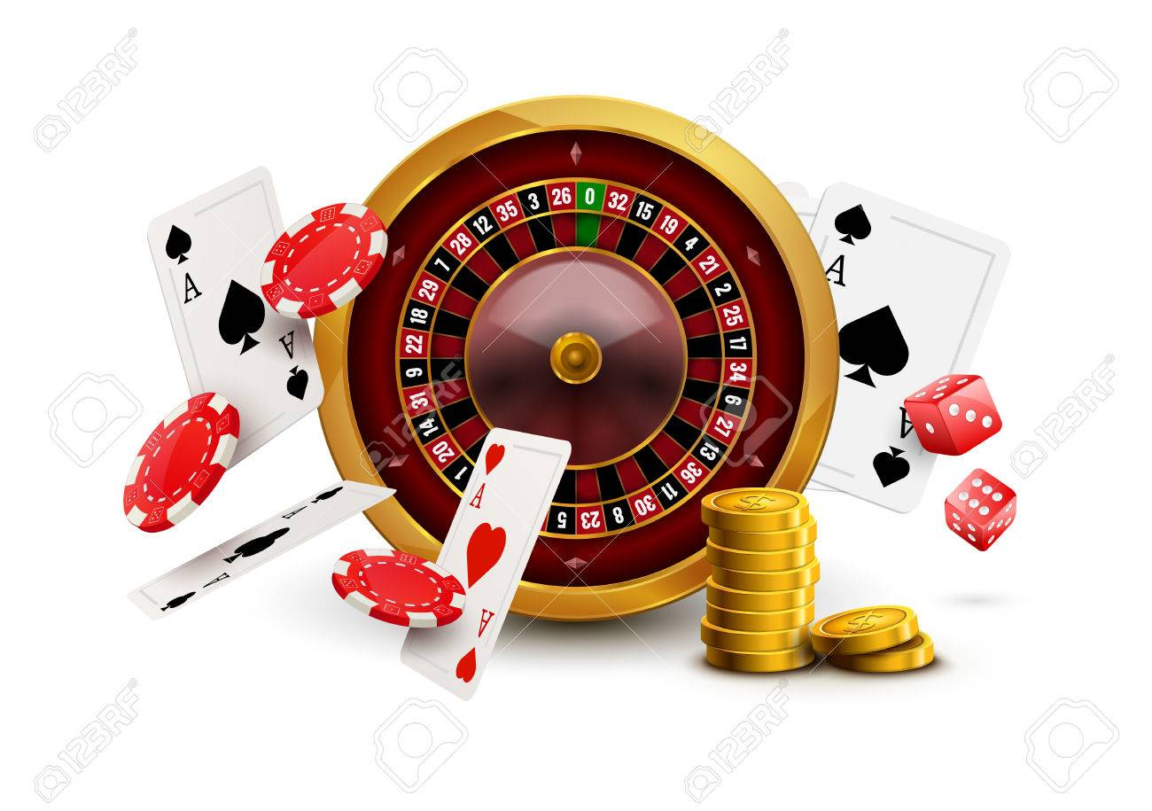 Traditional european roulette table vector illustration stock vector - American Roulette Casino Roulette With Chips Red Dice Realistic Gambling Poster Banner Casino