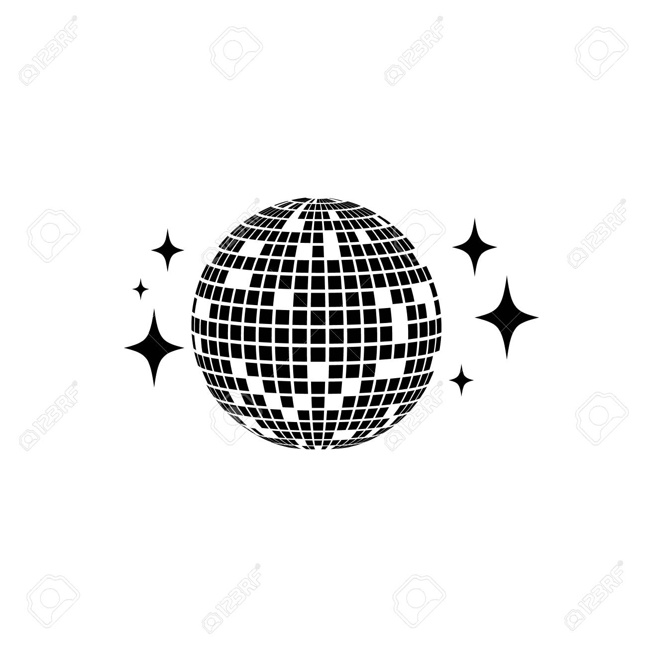 disco ball vector icon isolated club ball for party disco rh 123rf com disco ball vector png disco ball vector download