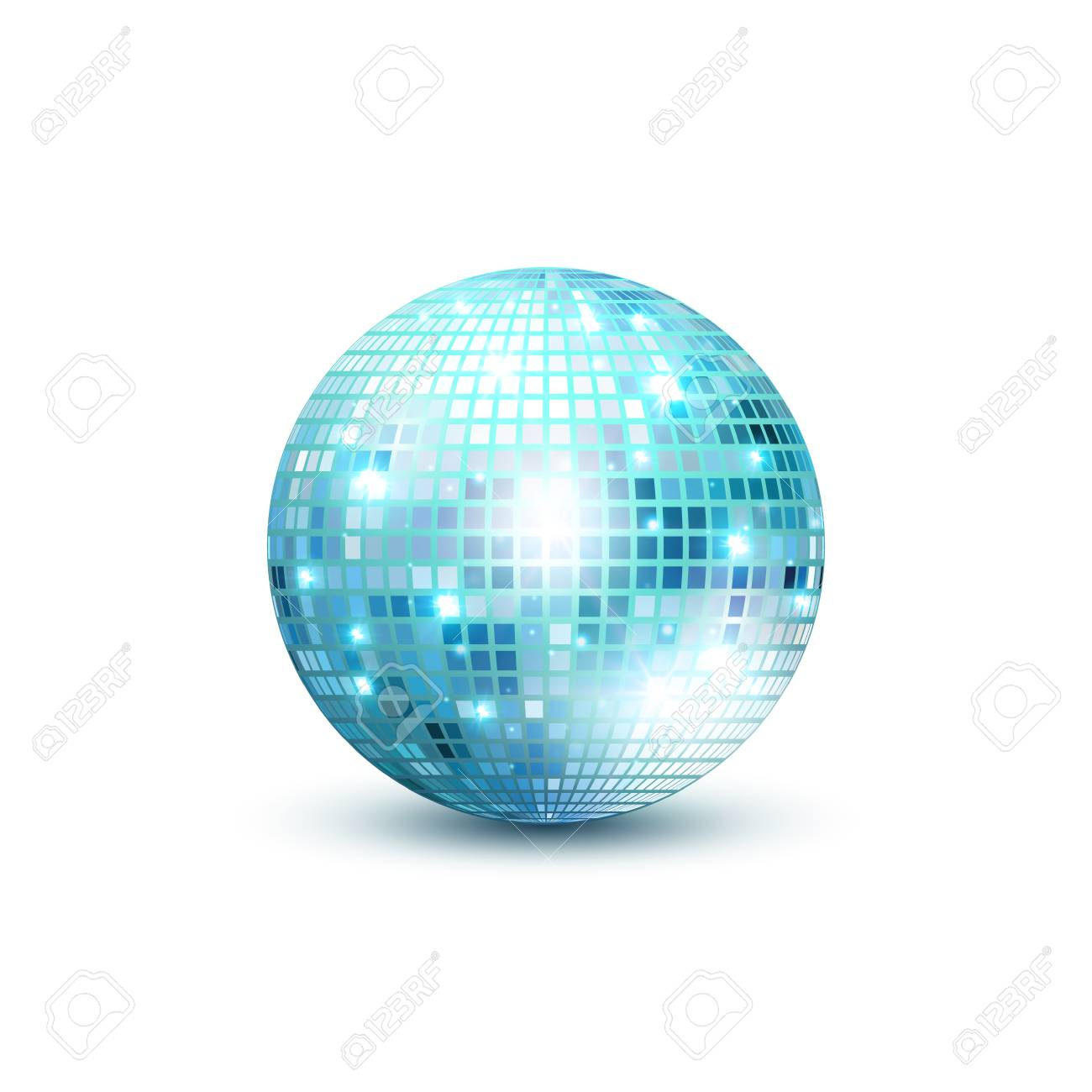 disco bal geïsoleerde illustratie night club party licht element