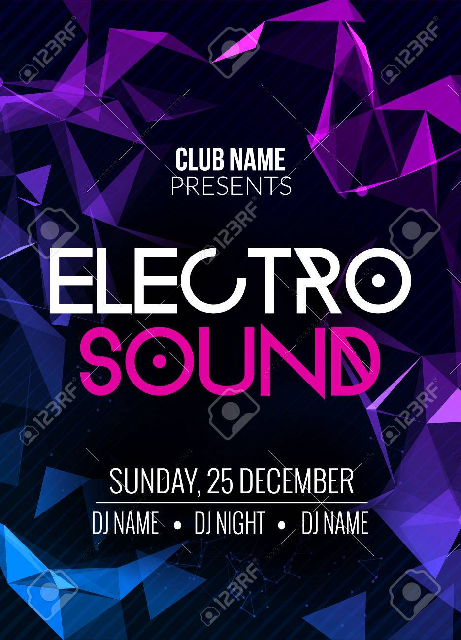 Electro Sound Party Music Poster Electronic Club Deep Music