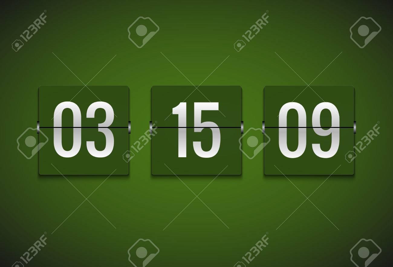 Countdown Timer Clock Counter. Flip Vector Timer Template. Display ...