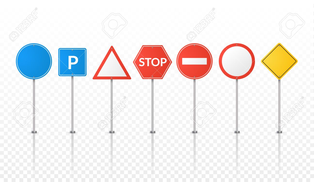 road signs isolated vector street signs illustration road symbols