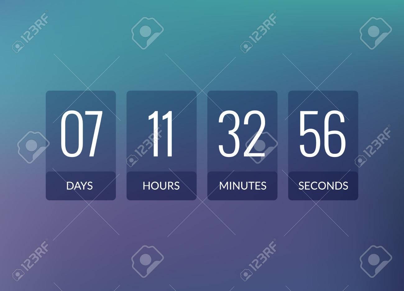 Countdown timer vector clock counter  Flip business scoreboard