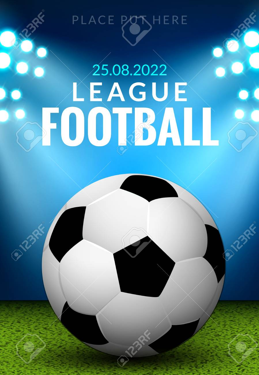 Vector Football Poster Or Flyer Template Soccer Design Sports
