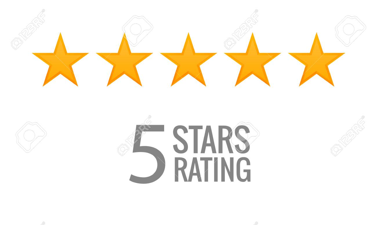 5 Star Rating Icon Vector Rate Vote Like Ranking Symbol Royalty