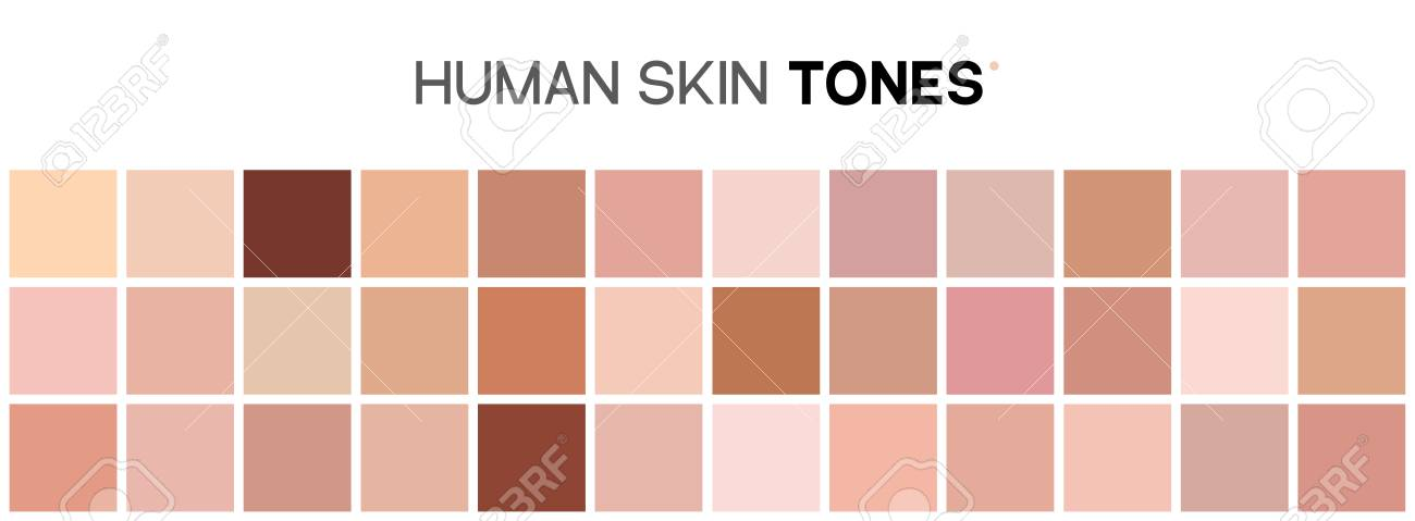 Skin Tone Color Chart Human Skin Texture Color Infographic Palette
