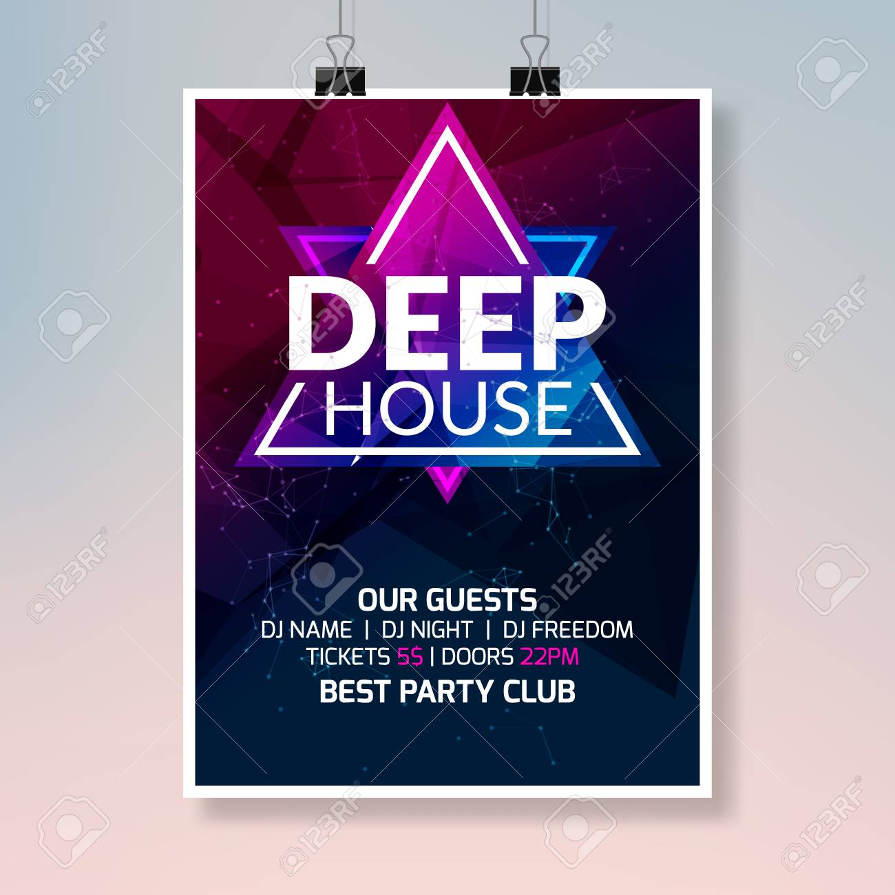 Deep House Dance Music Poster Music Party Flyer Banner Design Royalty Free Cliparts Vectors And Stock Illustration Image 102082083