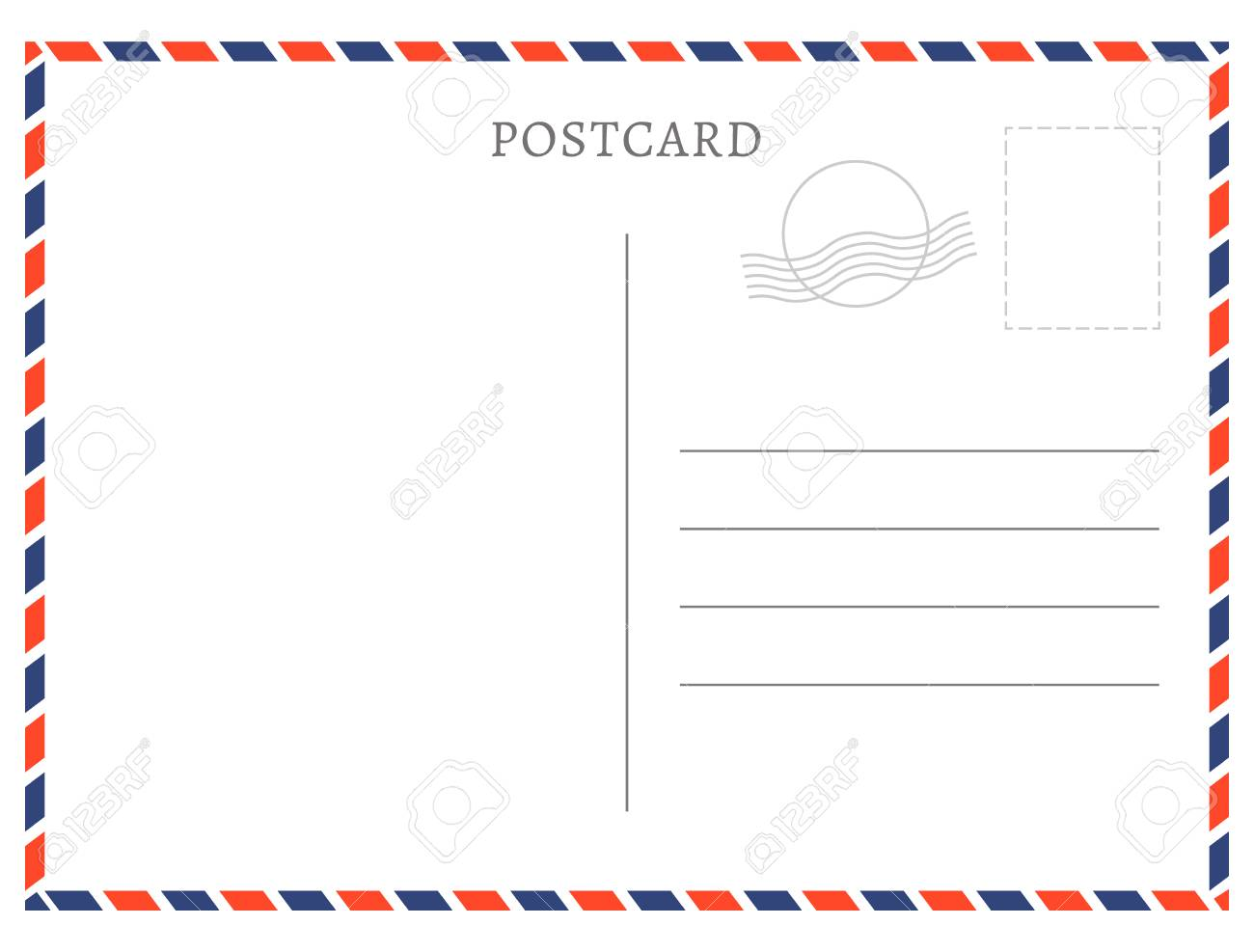 Post Card Template | Postcard Template Paper White Texture Vector Postcard Empty