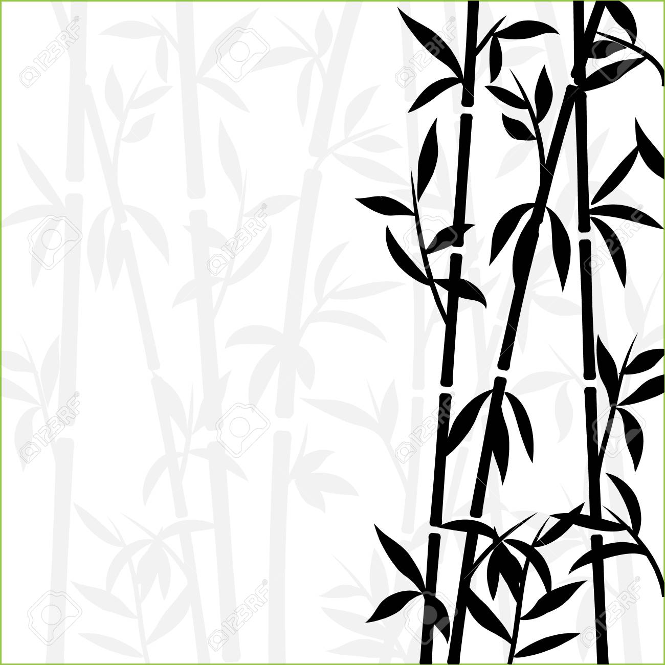 110288968 bamboo background japanese asian plant wallpaper grass bamboo tree vector pattern black and white