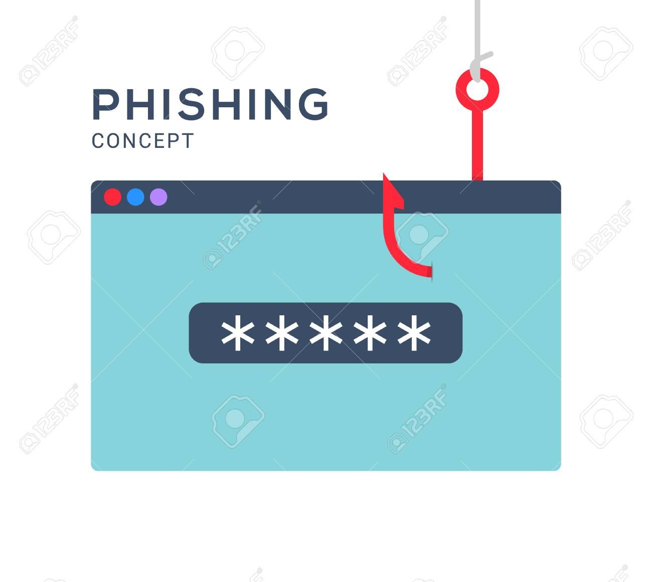 Data phishing hacking online  Scam envelope concept  Computer