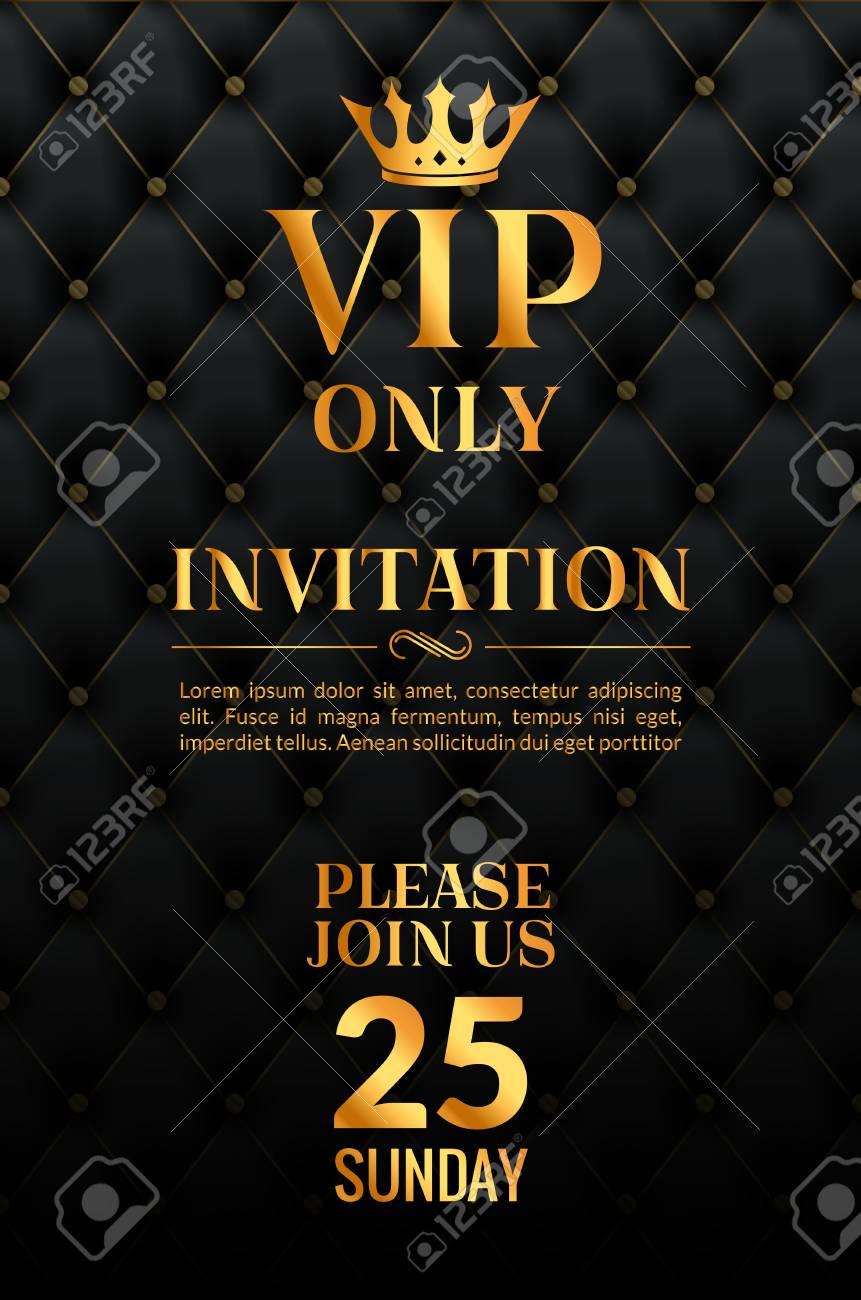 Vip Luxury Invitation Event Vintage Leather Exclusive Invitation