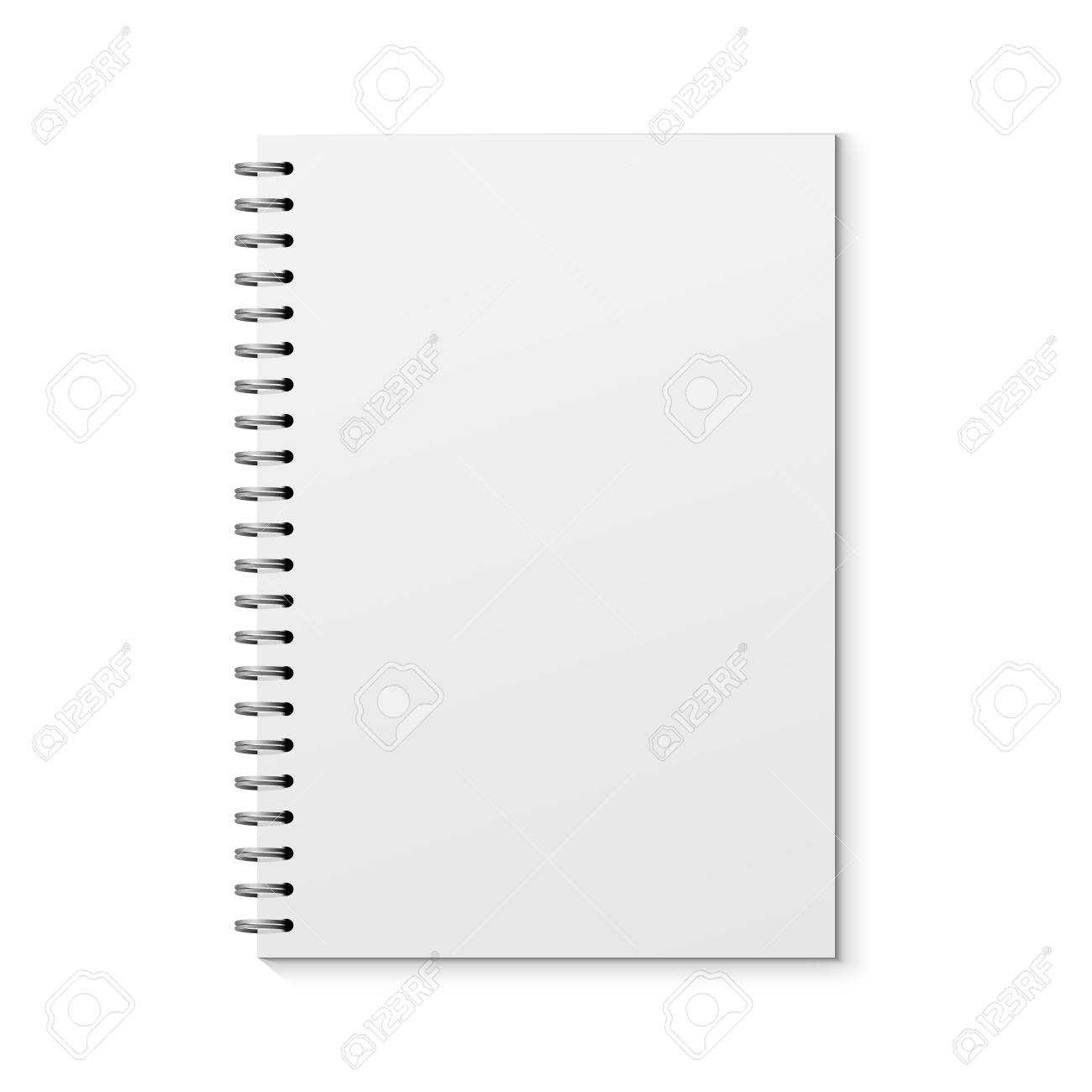 Realistic vector notebook design. Diary blank office document. Note book sheet. - 125007901